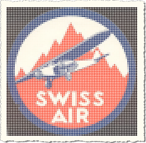 Pixelized Swiss Air logo