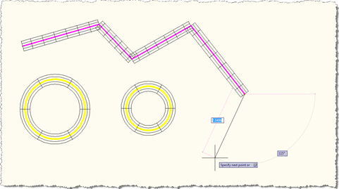 Overruled 2D wireframe display of lines and circles