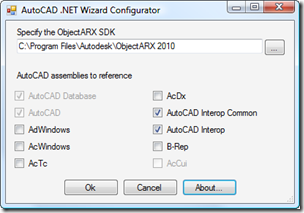 AutoCAD 2010 NET Wizards configurated