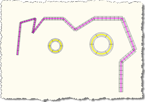 Our overruled lines and circles with varying profile radii