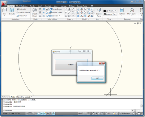 Result of driving AutoCAD via in- and out-of-proc code