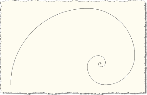 Level 50 Fibonacci spiral