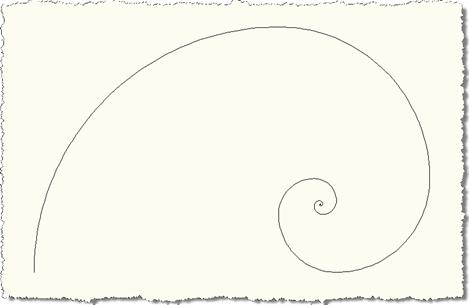 Level 50 Fibonacci spiral