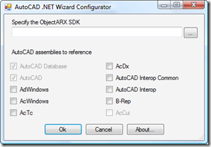 AutoCAD 2010 NET Wizards configurator