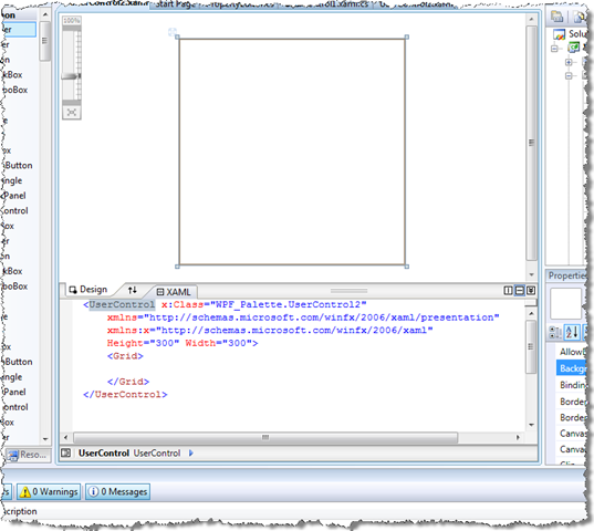 Hosting WPF content inside an AutoCAD palette - Through the