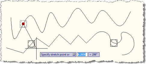 Moving a point between curves
