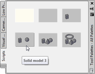 Our QSaveAs-populated tool palette