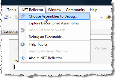 Launching the assembly decompilation