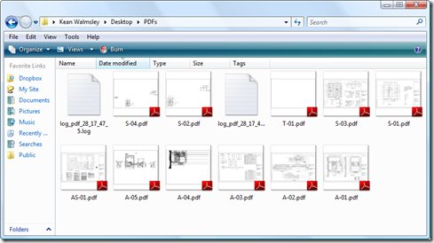 Our output PDF files