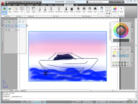Alias Sketch of a boat