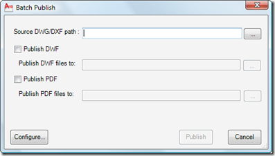 Batch Publish main dialog