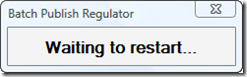 Regulator waitiing to restart AutoCAD after killing it