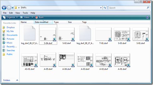 Our output DWF files