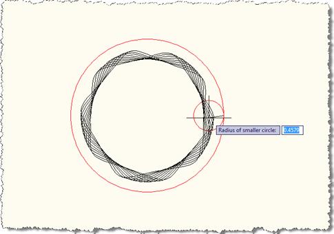 Defining our inner radius (smaller)
