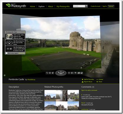 Pembroke Castle Photosynth