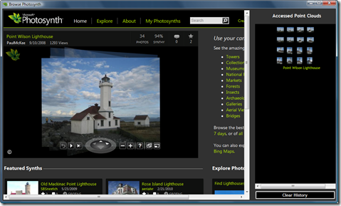 Browsing Photosynth 1