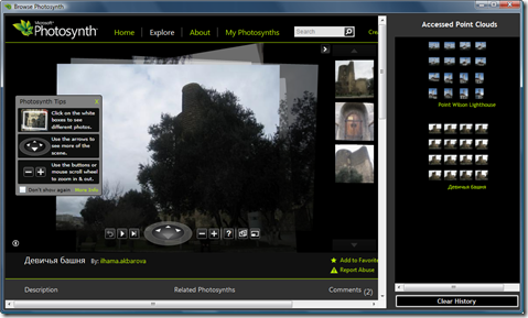 Browsing Photosynth 2