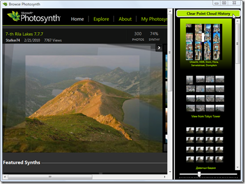 Browsing Photosynth with WPF 2
