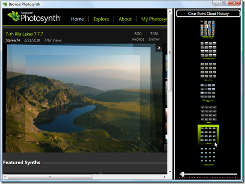 Browsing Photosynth with WPF 3