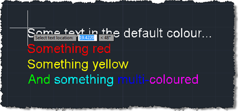 Dragging our multi-coloured multi-line text