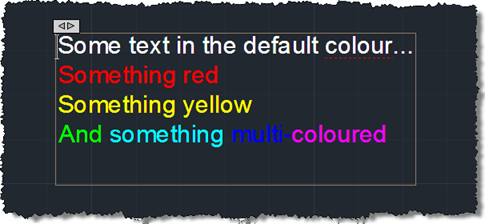 Editing our multi-coloured multi-line text