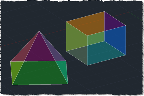 Shaded solids