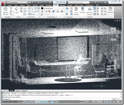 Point cloud of a conference room