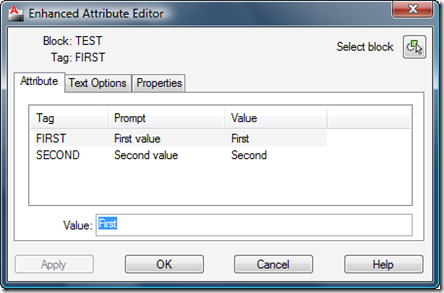 Editing attributes with standard order