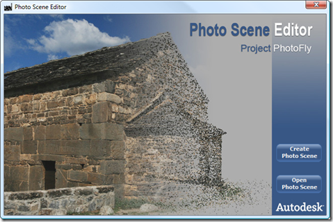 Photo Scene Editor welcome page