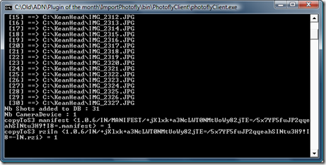 The command-line executable in action