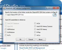 Using the AutoCAD .NET Wizard