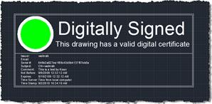 This drawing has a valid digital signature
