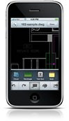 AutoCAD WS on iPhone