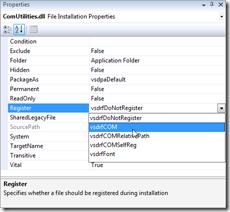 ComUtilities-dll installation properties
