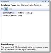 Installation folder page properties