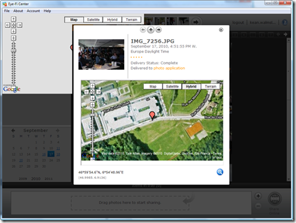 Eye-Fi geotagging in action