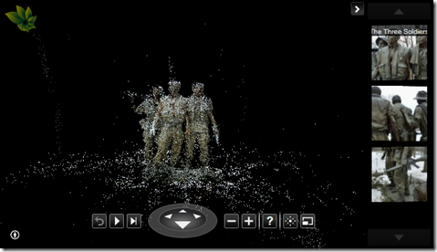 Vietnam Memorial Statue's point cloud