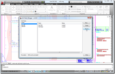 XrefStates dialog inside AutoCAD