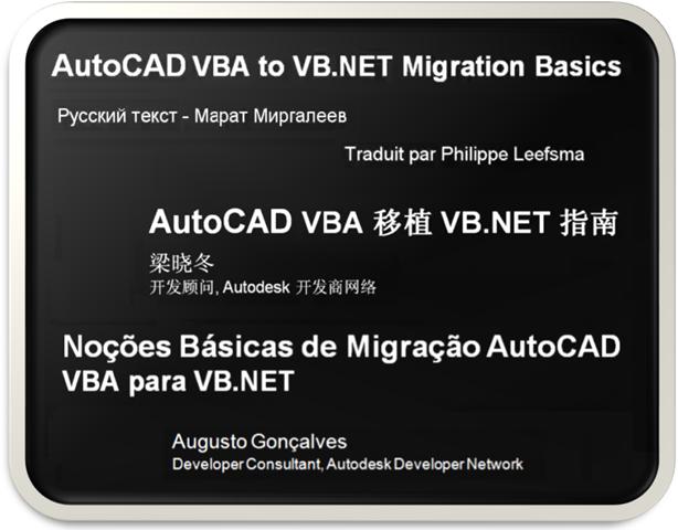 Translated AutoCAD VBA to VB NET Migration DevTVs - Through