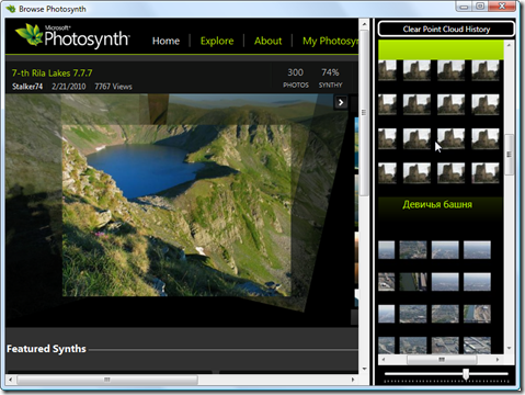 Browsing Photosynth with WPF 4