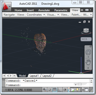 Kean's head in AutoCAD