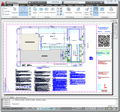 QR Code in an AutoCAD drawing
