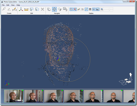 My head as a point cloud