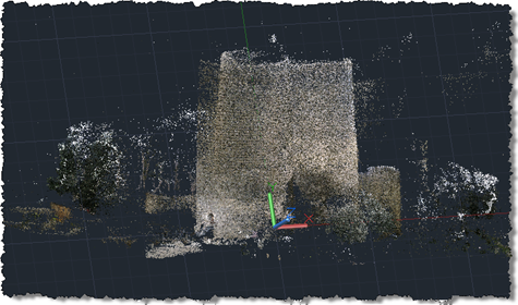 Castle point cloud in AutoCAD 2011