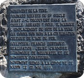 Plaque for La Tène's sword monument