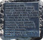 Plaque for La Tène's sword monument