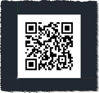 A raster image of a QR Code in AutoCAD