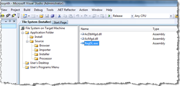 Add our RegDL executable to the Install folder