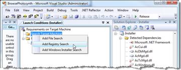 Adding a Registry search