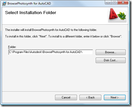 Select the installation location